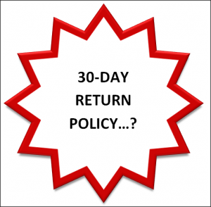 Fetaures Return Policy