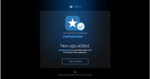 crashlytics new app added