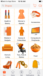 Review of Shopee Singapore App_Category
