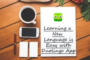 learning a new language is easy with duolingo