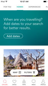 review of airbnb mobile app - accommodations