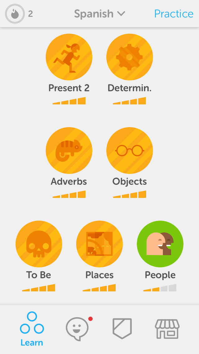 learning a new language is easy with duolingo - lessons