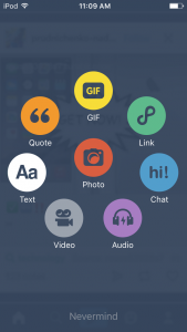 Review of Microblogging Social Networking Tumblr - options