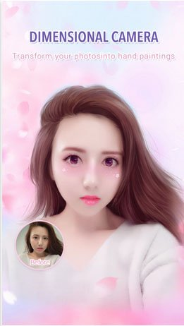 review of meitu app_dimension camera