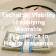 Technical Viability of Applying Wearable Telematics to Health Insurance